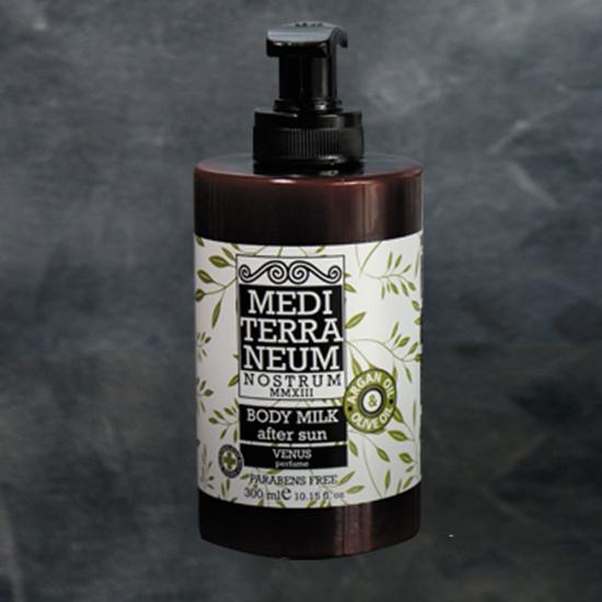 Lapte de corp dupa soare cu ulei de argan si ulei organic de masline Mediterraneum F1