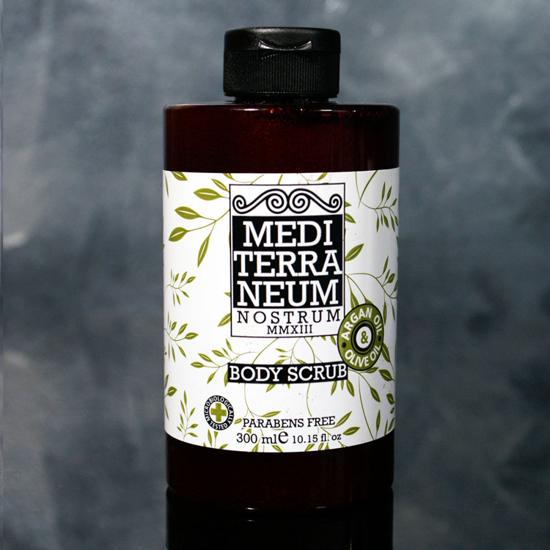 Gel de dus exfoliant cu ulei de argan si ulei organic de masline Mediterraneum F1